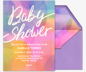 Baby Shower Abstract Invitation