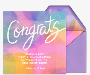 Abstract Rainbow Congrats Card