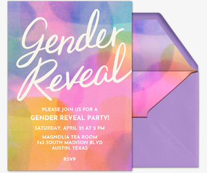 Gender Reveal Abstract Invitation