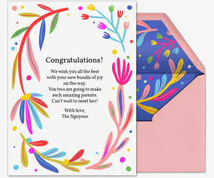 Floral Love Congrats Card