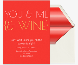 You Me Wine Invitation