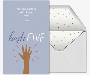 High Five Congrats Card