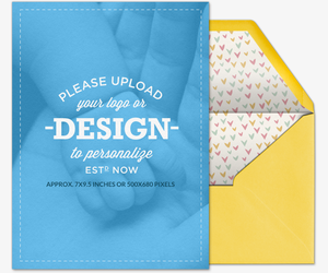 Design Your Own Portrait Baby Card