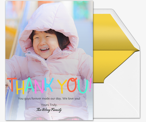 Colorful Thank You Card Card