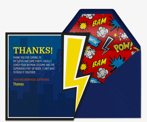 Superhero Thanks Card