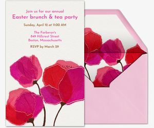 Easter Blooms Invitation