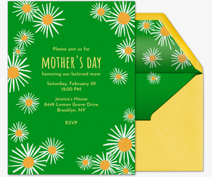 Daisy Shower Invitation