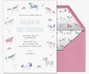 Unicorns Invitation