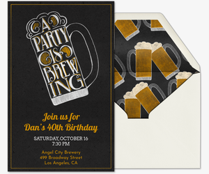 Brewing Party Invitation