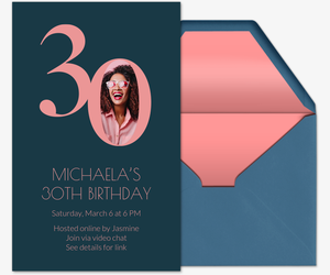 modern minimal diagonal stylish typography invite printable 18th 30th 40th 50th 60th pink BY343 DIGITAL 21st Birthday Party Invitation