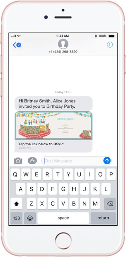 Send Party Event Invitations by Text Message Evitecom