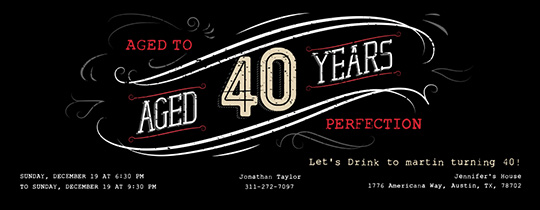 Free 60th Birthday Bash 40th Invitation