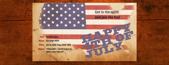 USA Flag Invitation