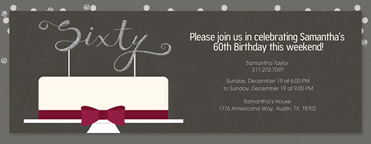 60 Milestone Invitation