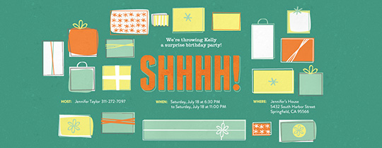BDay Surprise Invitation