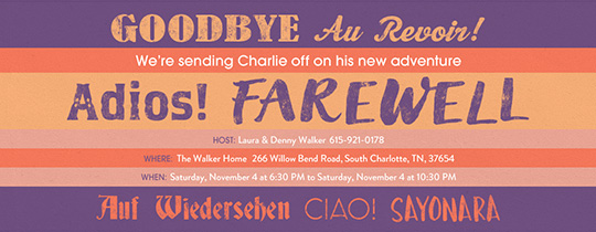 Adios Farewell Invitation