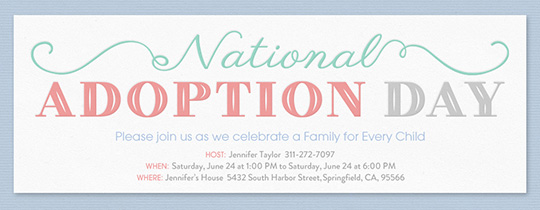 Adoption Day Invitation