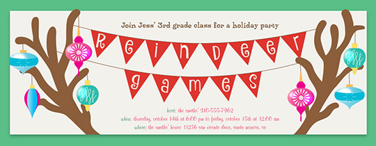 Antler Reindeer Games Invitation