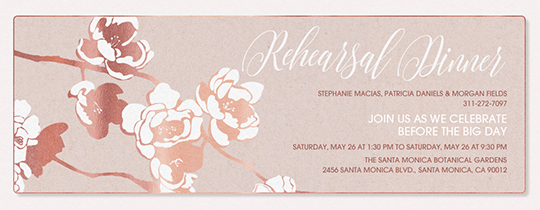 Apple Blooms Rehearsal Invitation