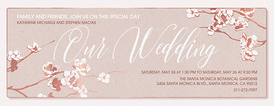Free online wedding invitations evite apple blooms wedding invitation m4hsunfo