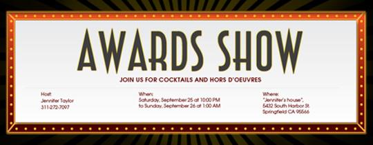 Awards Show Invitation