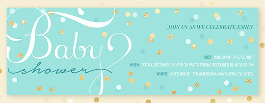 Baby Shower Confetti Invitation