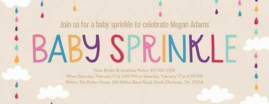 Baby Sprinkle Droplets Invitation