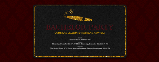 Bachelor Cigar Invitation