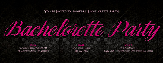 free bachelorette party invitations evite. Black Bedroom Furniture Sets. Home Design Ideas