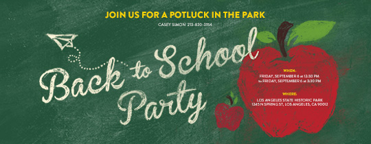 Back to School Apples Invitation