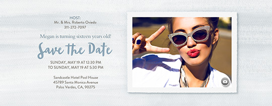 Basic Watercolor Dove Save the Date Invitation