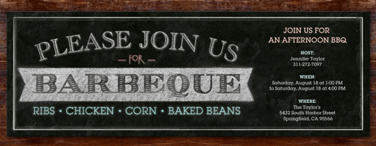 free online backyard barbecue bbq invitations evite