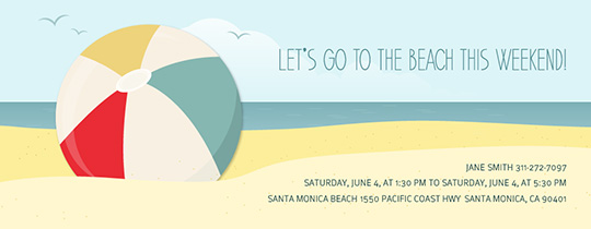 Beachball Fun Invitation