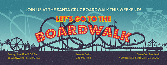 Beach Boardwalk Invitation