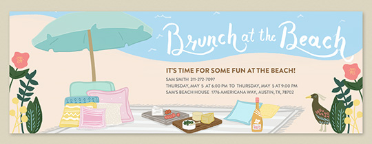 Brunch at the Beach Invitation