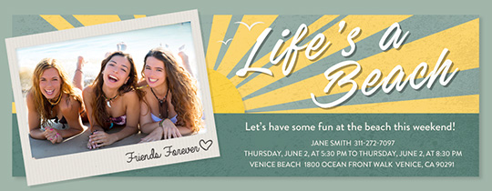 Beach Life Invitation