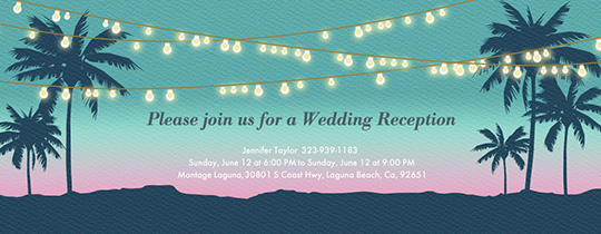 Beach String Lights Invitation