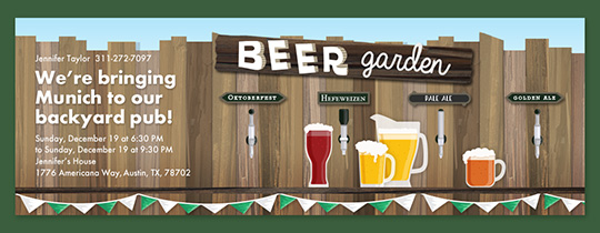 Beer Garden Invitation