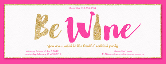 Be Wine Pink Invitation