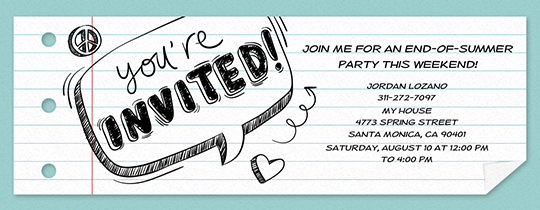 Free Back to School Party Invitations | Evite