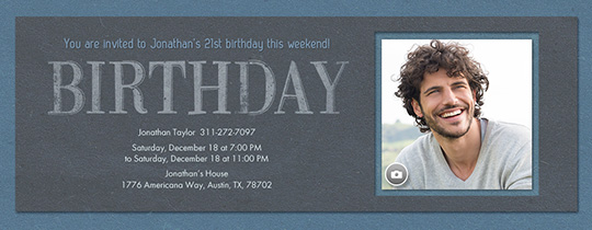 Birthday For Him Invitation