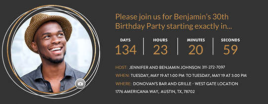 Free Birthday Party Invitations For Him Evite