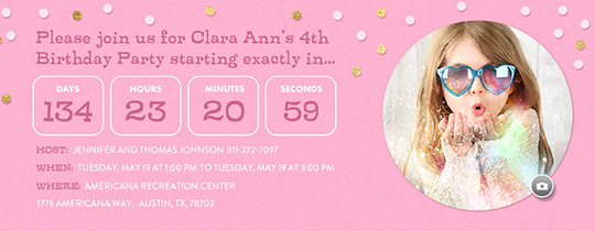 Birthday Girl Countdown Invitation Free