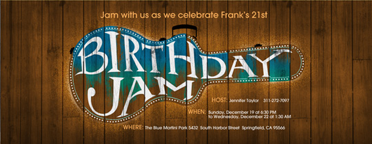Birthday Jam Invitation