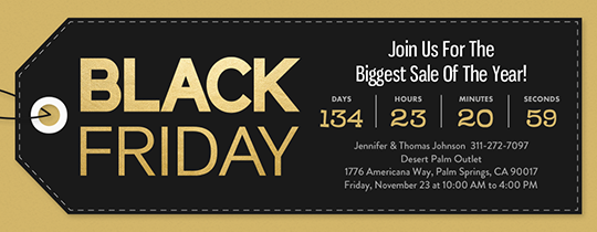 93683f81 Thanksgiving Harvest. Black Friday Countdown Invitation