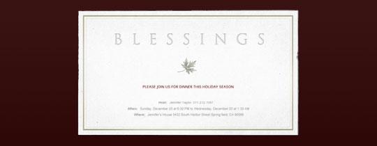 Blessings Invitation