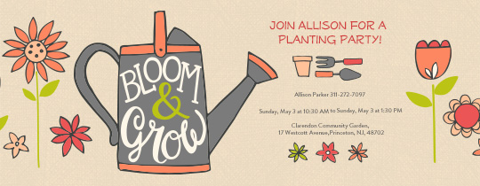 Bloom Garden Invitation