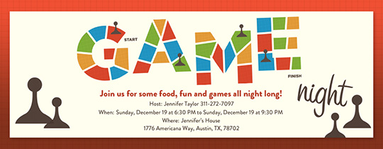 Board Game Night Invitation
