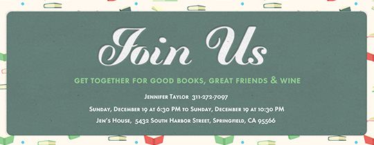 Book Bonanza Invitation