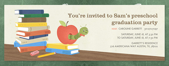 Bookworm Invitation